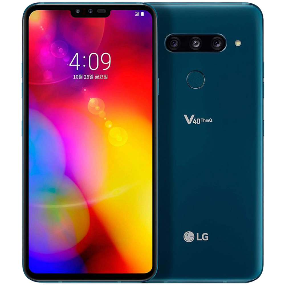 V40 ThinQ Dual Sim 128GB LTE 4G Albastru 6GB RAM