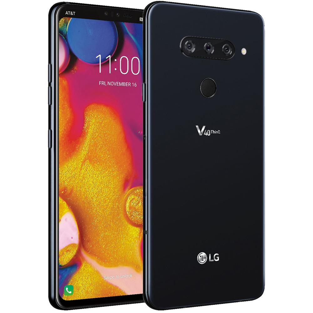 V40 ThinQ Dual Sim 128GB LTE 4G Negru 6GB RAM