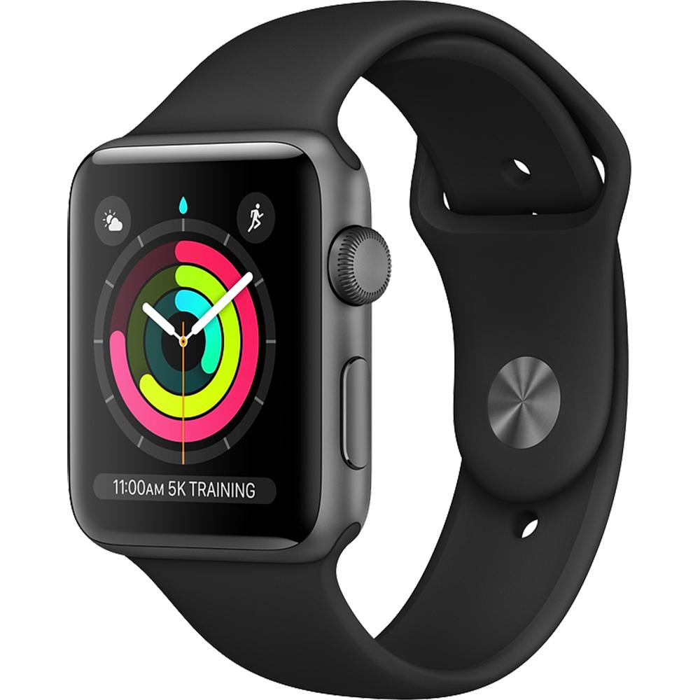 Watch 3 GPS Aluminiu Negru 38MM Si Curea Sport Negru  Negru