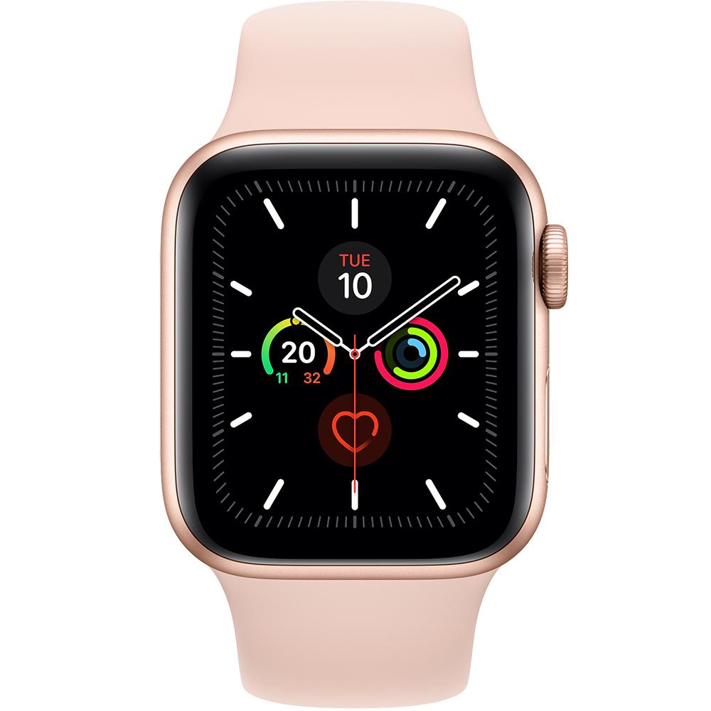 Watch 5 GPS Aluminiu Auriu 44MM Si Curea Sport Silicon Roz