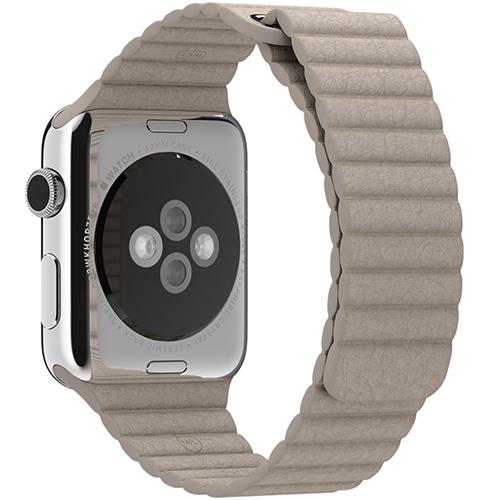 Curea Piele Crem M Apple Watch 42MM