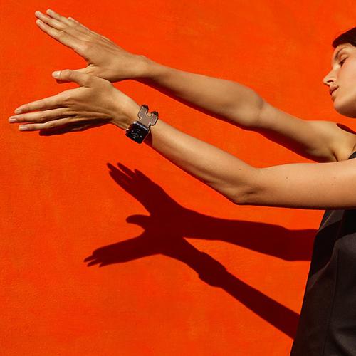 Watch Hermes Watch Otel Inoxidabil 38MM si Curea Piele Single Tour Neagra