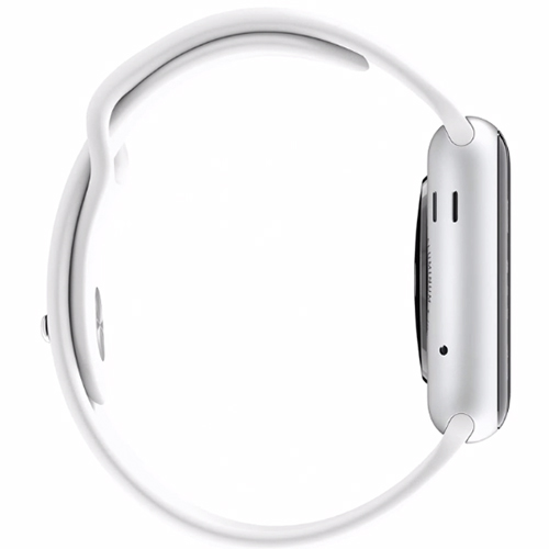APPLE WATCH SPORT 42 MM CARCASA DIN ALUMINIU ARGINTIU CUREA SPORT ALBA MJ3N2LL