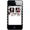 Husa Capac spate STRIPED CASE Apple iPhone 5 iPhone 5s Negru APPLE iPhone 5s, iPhone SE