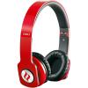 Casti Audio Zoro HD Hi-Fi Stereo Over Ear cu Microfon Rosu